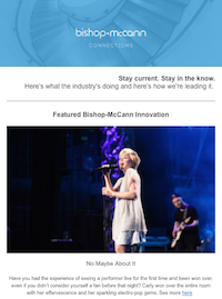 connections, newsletter, industry