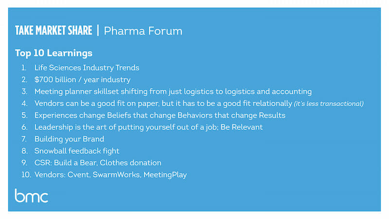Pharma Forum, meeting management, life sciences