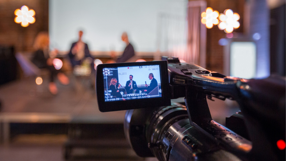 camera capturing hybrid meeting